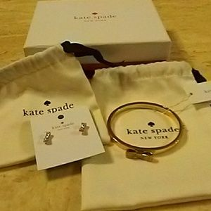 Kate spade bracelet and ear ring set